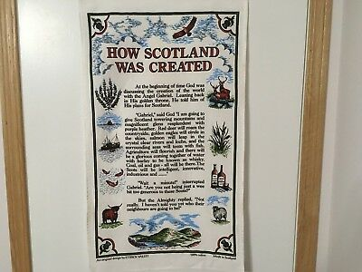 Souvenir Tea Towel - How Scotland Was Created