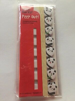 PAGE MARKERS Pandas NEW Unique Sticky Notes FREE SHIP!