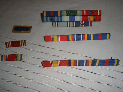 Vintage US Military Ribbon Bars lot of 6 - WWII