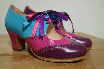 Flamenco shoes Everest Purple/Fuchsia/Blue size 6 or 36