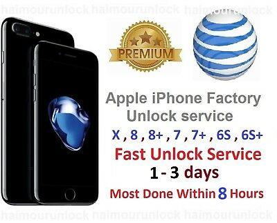 att unlock iphone XS XR XS MAX X 10 at&t apple factory Permanent unlock service