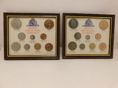 1967 British Pre - Decimel Currency Framed Set 2 Available FREE SHIP