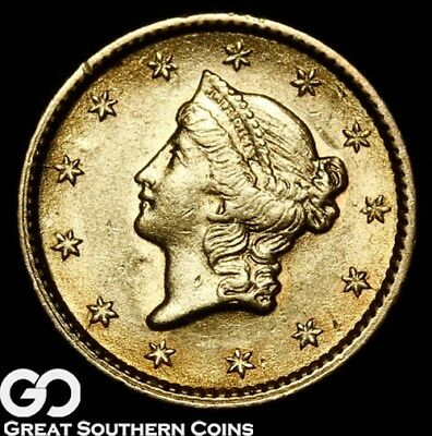 1853 Gold Dollar, $1 Gold Liberty, Sharp And Lustrous Choice BU++ ** Free S/H