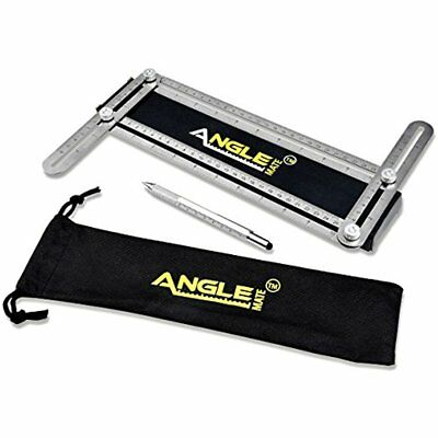Stainless Steel Rulers Universal Angle Finder With Spirit Level Aluminum Multi