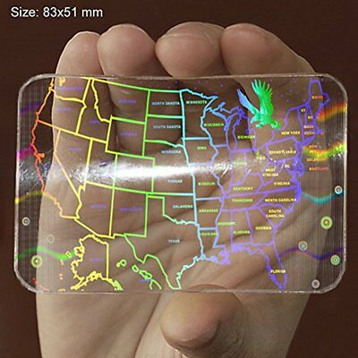ALL STATES Identification Badges SECURED ID CARD USA Hologram Overlay Sticker 3D