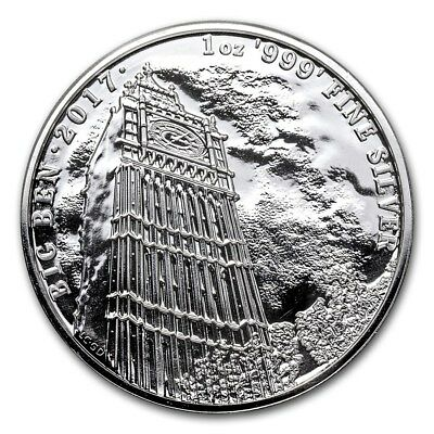 2017 Great Britain Big Ben 1 oz .999 Silver Coin Landmarks of Britain Series #1