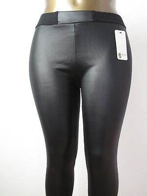 Thermoleggings Wetlook Lederlook schwarz Thermohose  Frauen Männer 42-46 one si