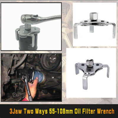 2018Universal Auto Tool 3Jaws 2Ways Oil Filter Wrench Spanner Remover Adjustable