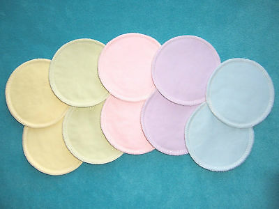 10Pcs Bamboo Reusable Breast Pads Nursing Waterproof Organic Plain Washable Pad