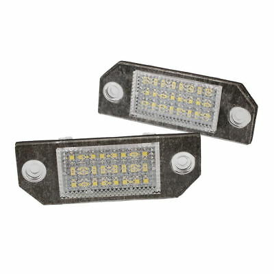 2Pcs White 24 LED Car Number License Plate Light Lamp for Focus C-MAX MK2
