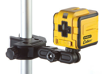 STANLEY CUBIX Self Levelling Cross Line Laser Level & Mounting Clamp, 177340