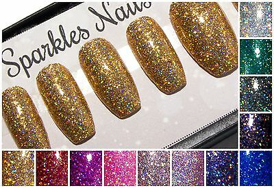 Coffin Glitter False Fake Press On Acrylic Artificial Glue On Short Faux Nails