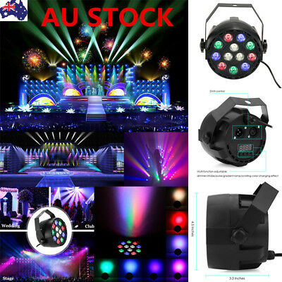 Outdoor 12 LED RGB Laser Stage Light Projector Garden Disco Party Lighting Lamp