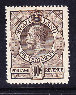 SWAZILAND George V 1933 SG20 10/- sepia - unmounted mint. Catalogue £140