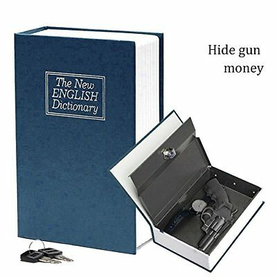 Home Dictionary Book Secret Safe Storage Key Lock Box Cash Security Steel Case