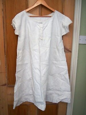 1900s/ antique french chemise/ nightdress, metis, monogrammed