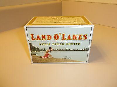 Vintage Metal Land O'Lakes Butter Recipe Box Sweet Cream With Recipe Cards