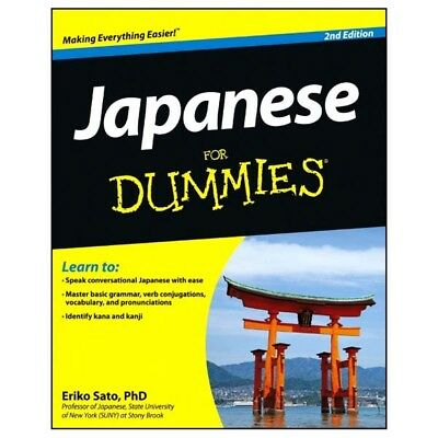 Japanese For Dummies 2nd Edition Book With CD Set By Eriko Sato 2012 Paperback