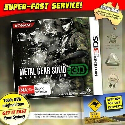 Metal Gear Solid 3D Snake Eater NEW PAL RARE Game for AU Nintendo 3DS 2DS XL MGS