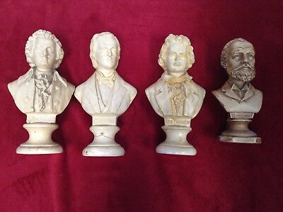Classical Artist's Busts Mozart / Chopin / Beethoven / Tschaikowsky  19cm - 23cm