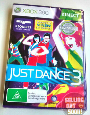 Just Dance 3 Xbox 360 Kinect ✓NEW ✓SEALED ✓OZI ✓Dancing Music Game X3 Console AU