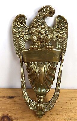 "Solid Brass Eagle Door Knocker 9"" NEW"