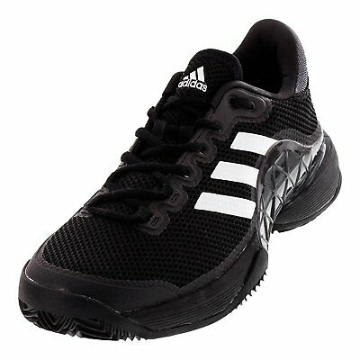 Adidas Mens 2017 Barricade Boost Clay Court Tennis Shoes, Core Black/Night Size