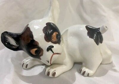 Lovely Brown, Black & White Antique Porcelain Puppy Made In Germany SP 1426