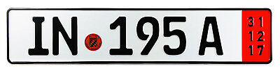 Audi Ingolstadt Red Export German License Plate Z Plates wtih Unique Number NEW
