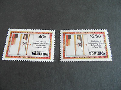 Dominica  1980 Sg 732A-733A 80Th Birthday Of Queen Mother Mnh