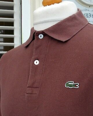 Lacoste Cinnamon Brown Pique Polo - XL/XXL - Size 7 - Ska Mod Scooter Casuals