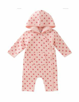 ABSORBA Baby Girls' Hooded Coverall Dusty Pink 3 - 6 Months