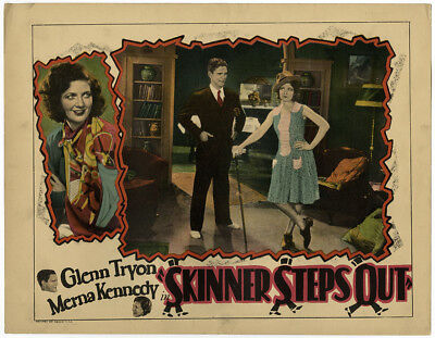 1929 Early Talkie Skinner Steps Out Vintage Jazz Age Lobby Card w/ Merna Kennedy