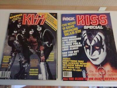 2 Kiss Magazines Summer 1978 & Collectors Edition with Poster