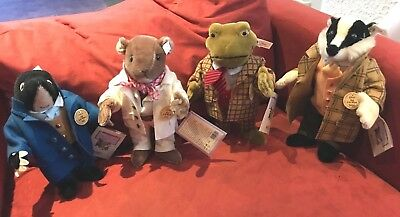 Wind in the Willows, STEIFF Sonderserie, ALLE 4 Stück, nagelneu