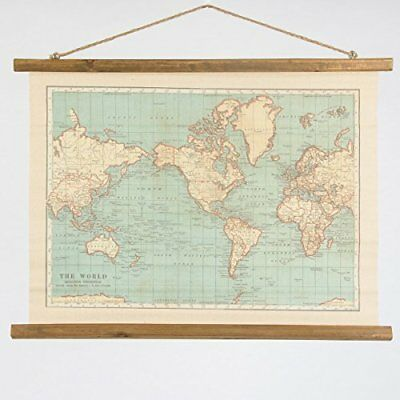 Sass and belle vintage collection world map wall hanging canvas sass and belle vintage collection world map wall hanging canvas tapestry home gumiabroncs Images