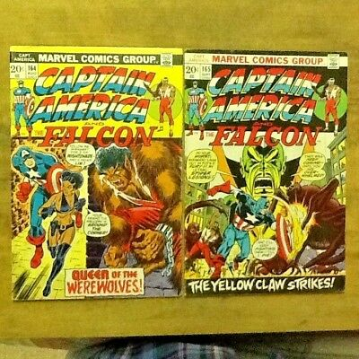 Captain America and Falcon #164, #165; 2 issue run; Werewolves!  Marvel 1970s