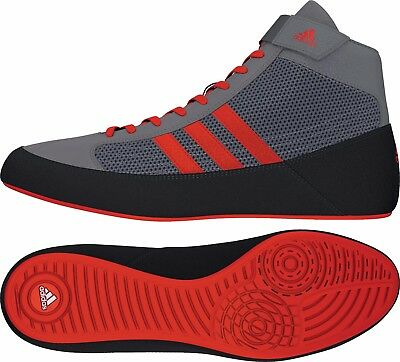 Adidas Havoc Wrestling Shoes Boots Trainers Pumps Mens Adults Grey Red