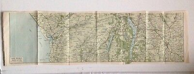 Lake District South Section, 1924 Vintage Map, Bartholomew,  Original