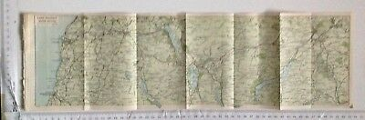Lake District North Section, 1924 Vintage Map, Bartholomew,  Original