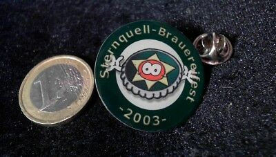Bier Beer Pin Badge Sternquell Brauereifest 2003