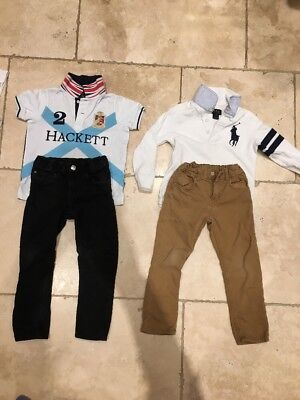 3-4 Years Boys Hacket Polo Ralph Lauren And 9 Tshirts
