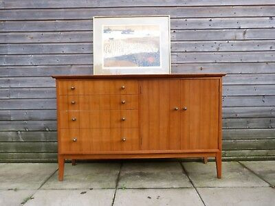 Mid Century teak sideboard with drawers by Maple and Co London