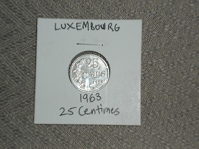 1963 Luxembourg 25 centimes - twenty-five cmes