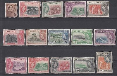 Dominica, 1954 QEII definitives set. SG140/158.very Scarce & Going cheap