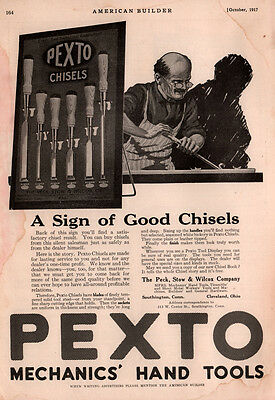 1917 A  Ad  Pexto Mechanic Hand Tools Chisel Peck Stow