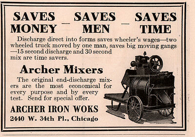 1917 A  Ad Archer Iron Works Mixer