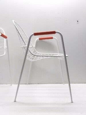 chair garden 60's chair plastic woven vintage modern antiques RIMA