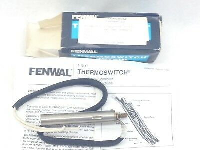 "Hawco Fenwal 17002-0-4-2 (15"") Thermoswitch  Range: -100 To 600°F  (F280)"