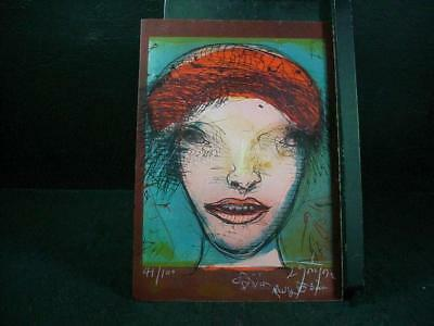 "NobleSpirit{3970} Signed/Numbered Leonel Gongora Litho ""Portrait of a Woman"